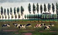 koeien in landschap by ger gerrits