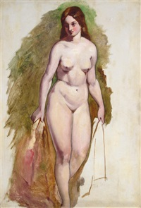 standing female nude by william edward frost
