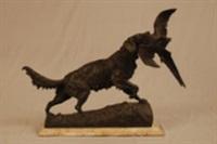chien de chasse et sa proie by antonio amorgasti
