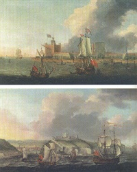 ships of the fleet off garrison point, sheerness by jacob knyff