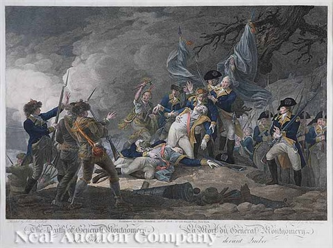 the death of general montgomery at quebec by w ketterlinus by john trumbull