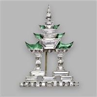a pagoda brooch by janesich (co.)