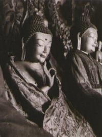 tempio di rinchengang, vitarka mudra by fosco maraini