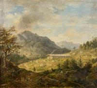 blick auf eine alm in den bayerischen alpen by johann jakob dorner the younger