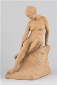 jeune femme au rocher by charles samuel
