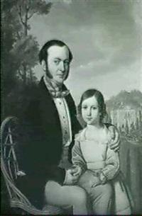 portrait des ernest radinger mit seinem sohn heinrich by jakob (johann) hermann