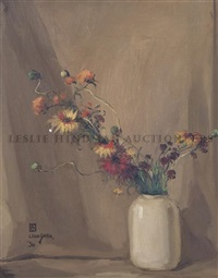 flowers in vase by leon dabo