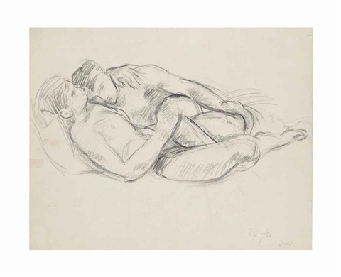 men embracing reclining male nude and standing male nude 3 works by duncan grant