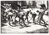 asphalt workers by william wolfson