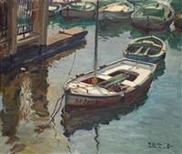 barcos en el puerto by josé peris arago