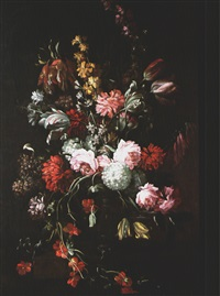 blumenstillleben in vase by herman verelst