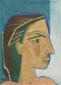 profil (bleue) by françoise gilot