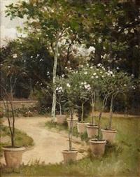 le jardin du peintre by edouard bernard debat-ponsan