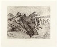 zwei araber an der küste von oran (arabes d'oran) by eugène delacroix