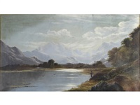 a view of loch achray, scotland by charles leslie