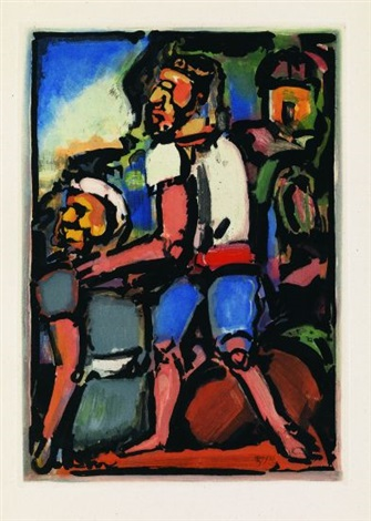 paysans (from passion) by georges rouault
