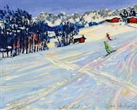 skifahrer bei kitzbühel by thomas metlewicz