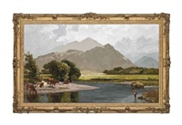 fishing on the derwent, borrowdale by james peel