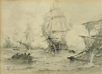 three masted frigates at war by albert markes
