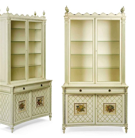 vitrine cabinet vitrine cabinet pair by vincent fourcade