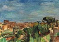 blick auf das kolosseum in rom by hans purrmann