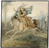 könig entführt eine jungfrau by wilhelm lindenschmit the elder