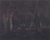 civil war skirmish in the forest by john francis edward hillen