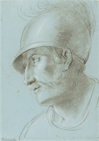 head of a soldier by arcangelo foschini