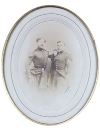 portrait de deux officiers by nadar