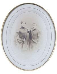 portrait de deux officiers by nadar