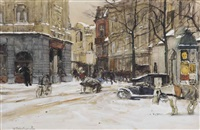 a winter's day at the buitenhof, the hague by floris arntzenius