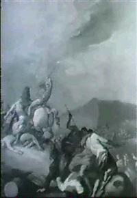 reiterschlacht in gebirgslanschaft by franz joseph spiegler