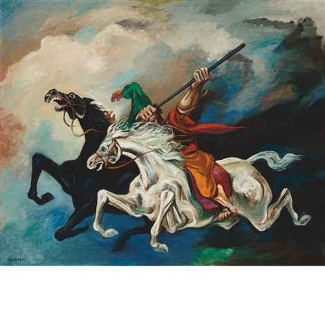 the battle of good and evil by william gropper
