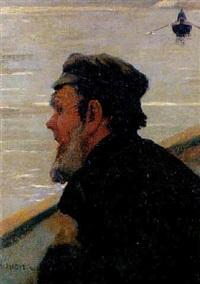 pescador desde la barca by joan llimona y bruguera