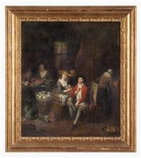 scena d'interno di cucina by jan baptist lambrechts