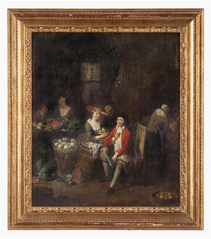 scena dinterno di cucina by jan baptist lambrechts