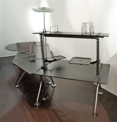 gro er management schreibtisch aus der nomos serie by. Black Bedroom Furniture Sets. Home Design Ideas
