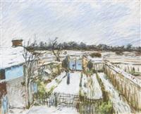 jardins à maret en hiver (les jardins sous la neige) by alfred sisley