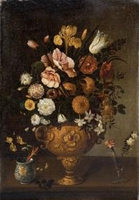 flores en jarrón de bronce by pedro de camprobin