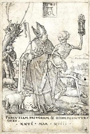 der tod und der bischof from a portfolio by heinrich aldegrever