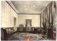 the interior of a room in huis ypenburg by jeannette de la bassecour caan