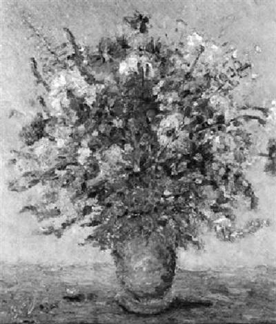 vase mit buntem sommerstrauß by leon bollag