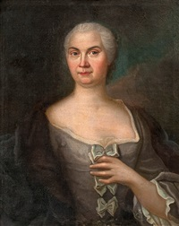portrait of a woman by johan stålbom