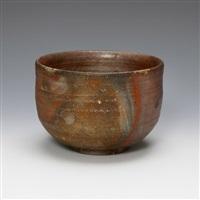 a tea bowl-bizen by fujiwara kei