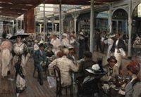 the terrace café, mar del plata by eugenio alvarez dumont