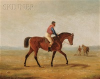 horse and jockey by scott leighton