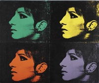 4 barbra's (from jewish jackie series) by deborah kass