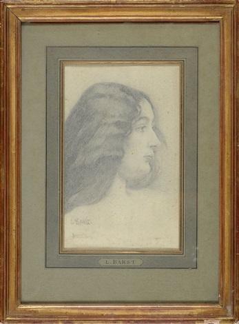 portrait dune jeune femme vue de profil by leon bakst