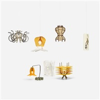 subscription lamps (9 works) by jorge pardo