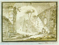 italienskt ruinlandskap by jean-eric rehn